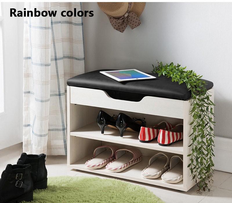MR二層空格鞋櫃 (彩虹條)