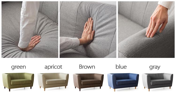 MR2座位布藝梳化 深藍色