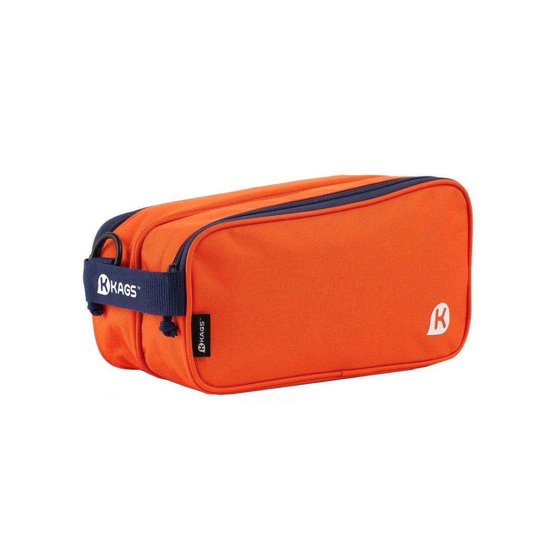 KAGS BRETT 系列超輕便雙分隔內裱膠鞋袋連揹帶 - 橙色