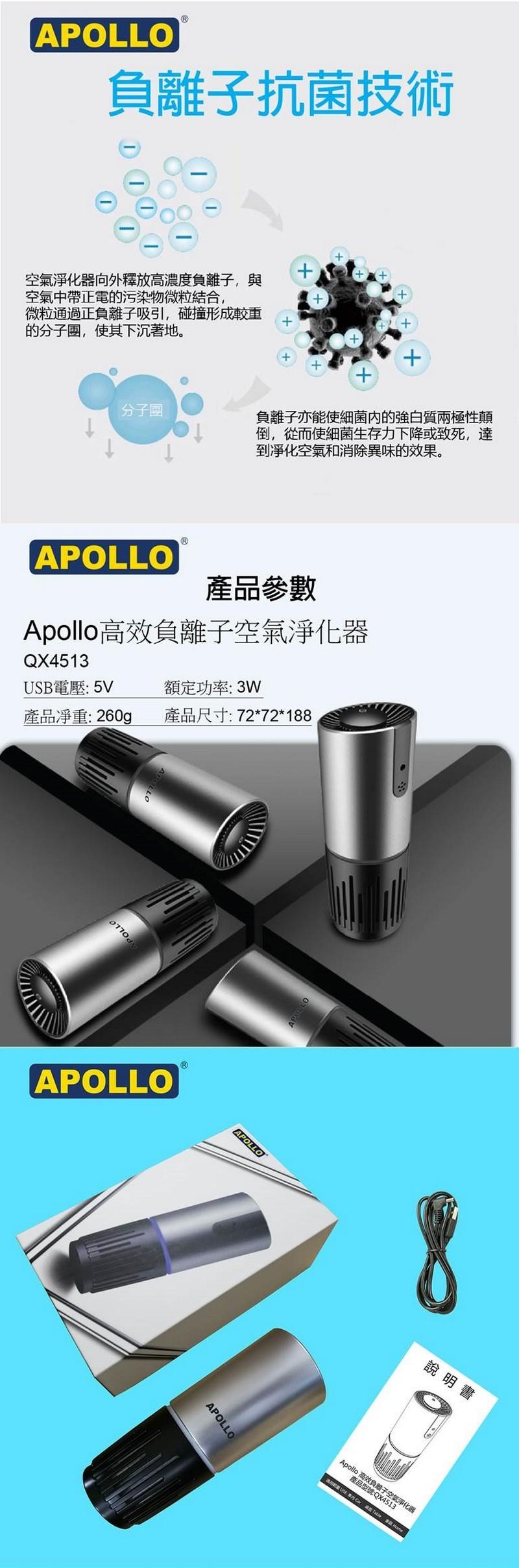 APOLLO高效負離子空氣淨化器