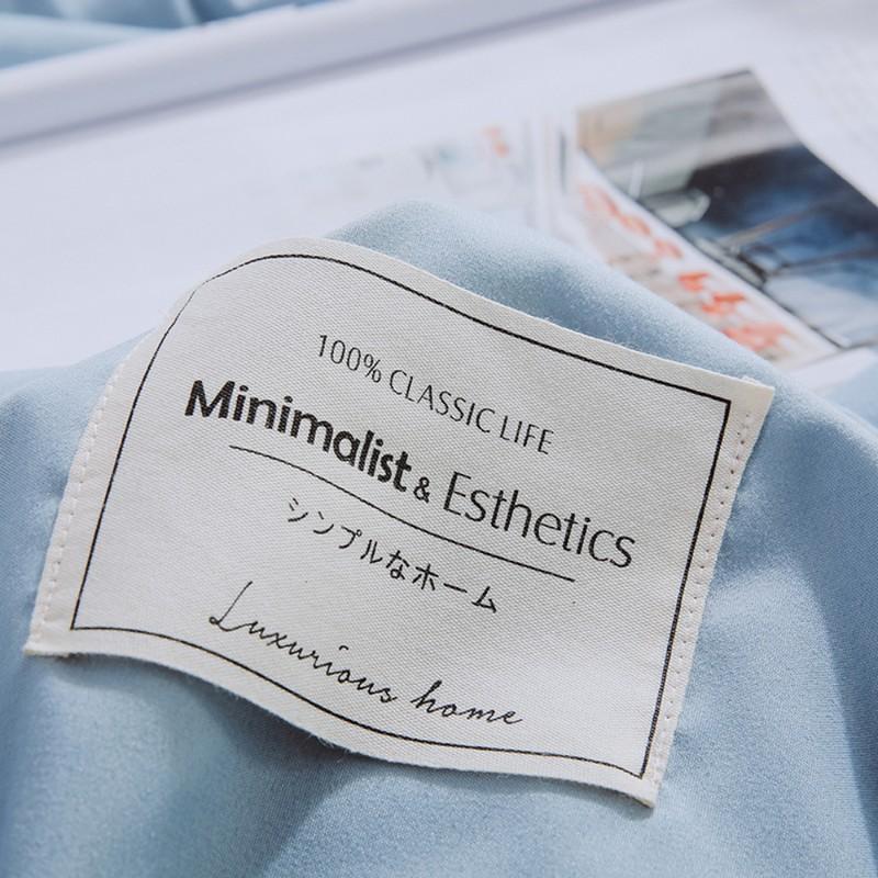 Aisuru1560針北歐款磨毛床品套裝蔚藍簡約(雙人)*供應商直送 限門市自取