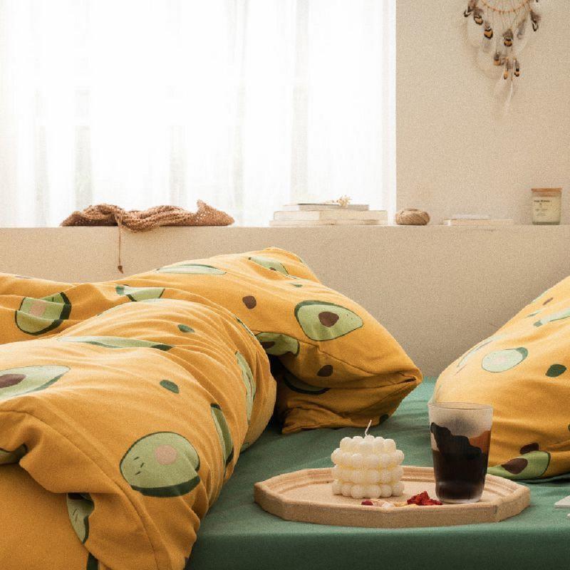 Aisuru1560針高端北歐款磨毛床品套裝時尚牛油果(雙人)*供應商直送 限門市自取