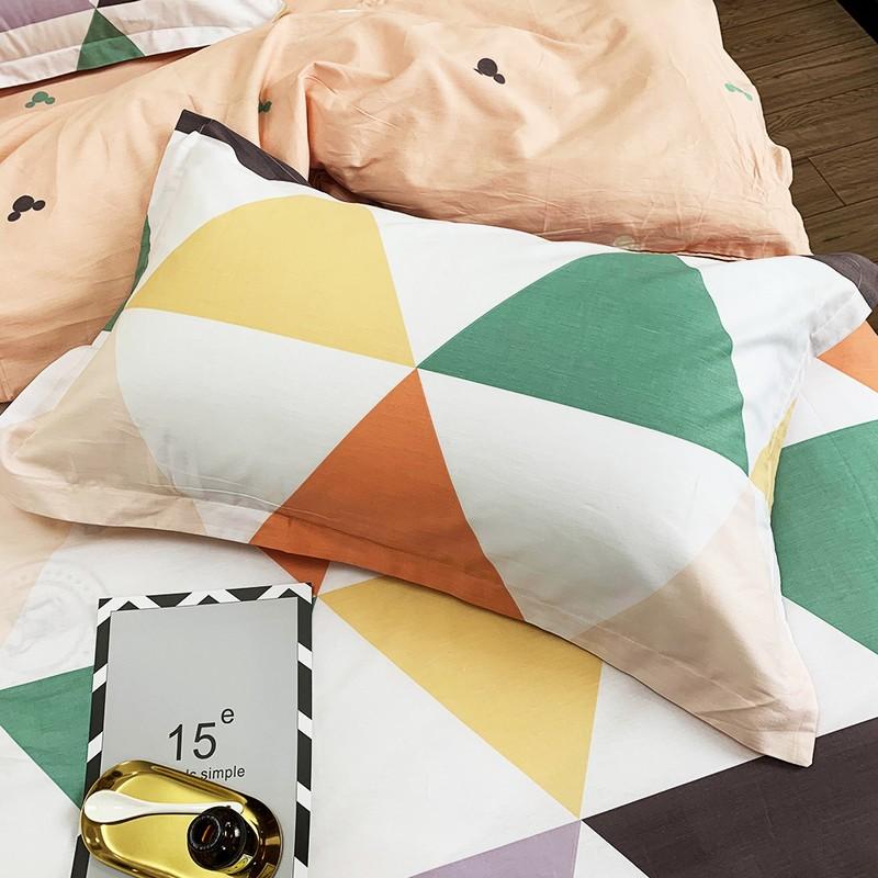 Aisuru1960針全棉床品套裝彩色菱形(加大) *供應商直送 限門市自取