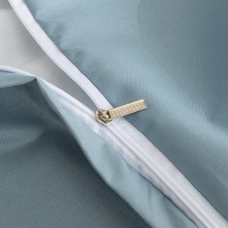 Aisuru1560針高端北歐款磨毛床品套裝圓圓藍白點(雙人)*供應商直送 限門市自取