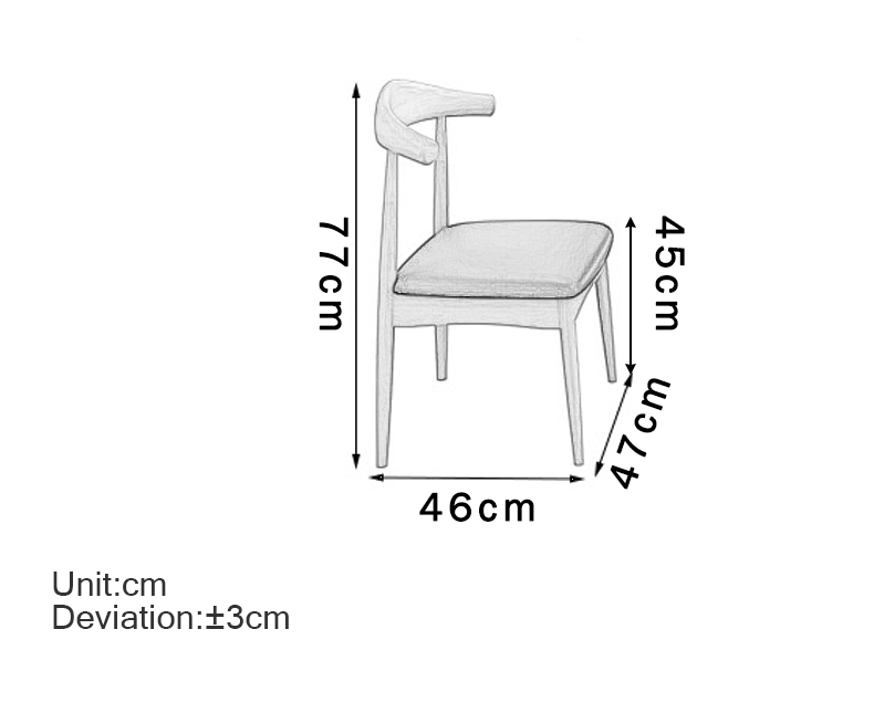 MR實木餐桌椅套裝1+4 MR-70120原木色