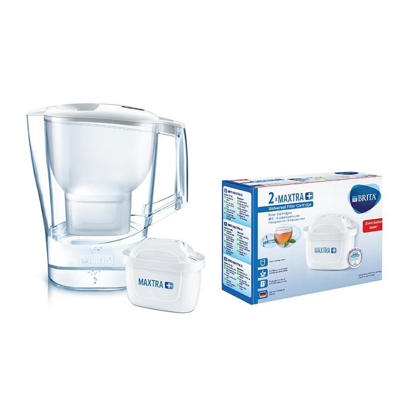 BRITA白色濾水壺 3.5L內附1 個濾芯 及兩件裝濾芯 (供應商發貨, 到貨將另行通知取貨)