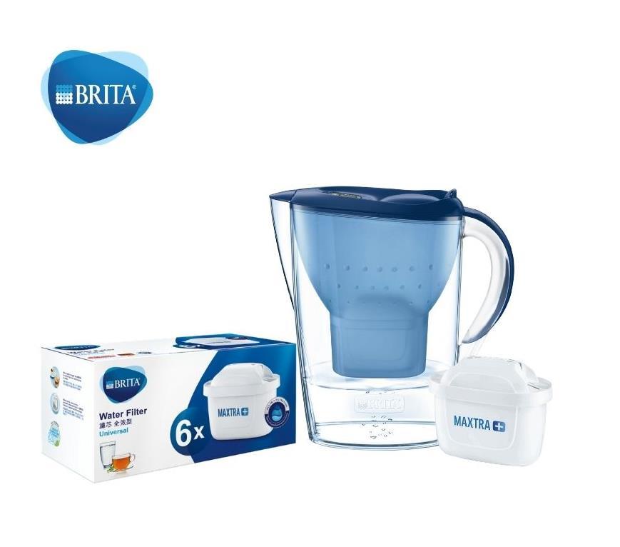 BRITA 藍色水壺 3.5L內附1+6個濾芯
