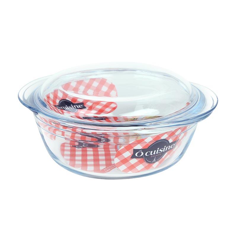 OCUISINE圓形有蓋玻璃鍋