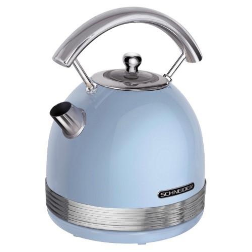 Schneider 復古設計1.7公升電熱水煲(藍色)