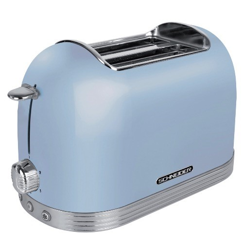 Schneider 復古設計2片多士爐(藍色)  -型號 :SCTO2BL