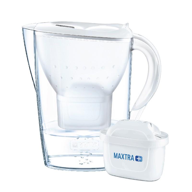 BRITA白色濾水壺 2.4L 內附 1 個濾芯 (供應商發貨, 到貨將另行通知取貨)