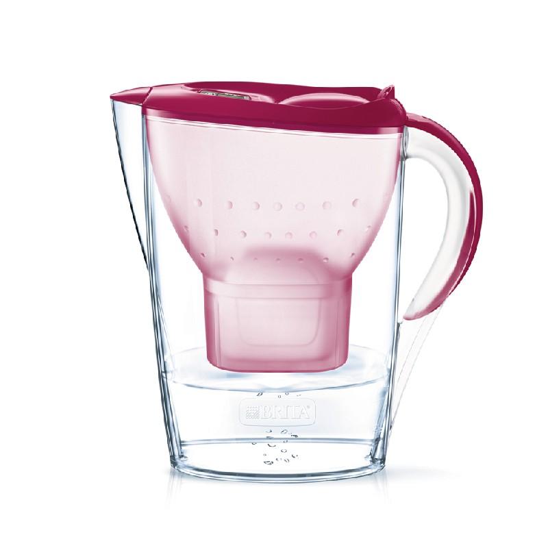 BRITA梅紅色水濾壺 2.4L 內附 1 個濾芯 (供應商發貨, 到貨將另行通知取貨)