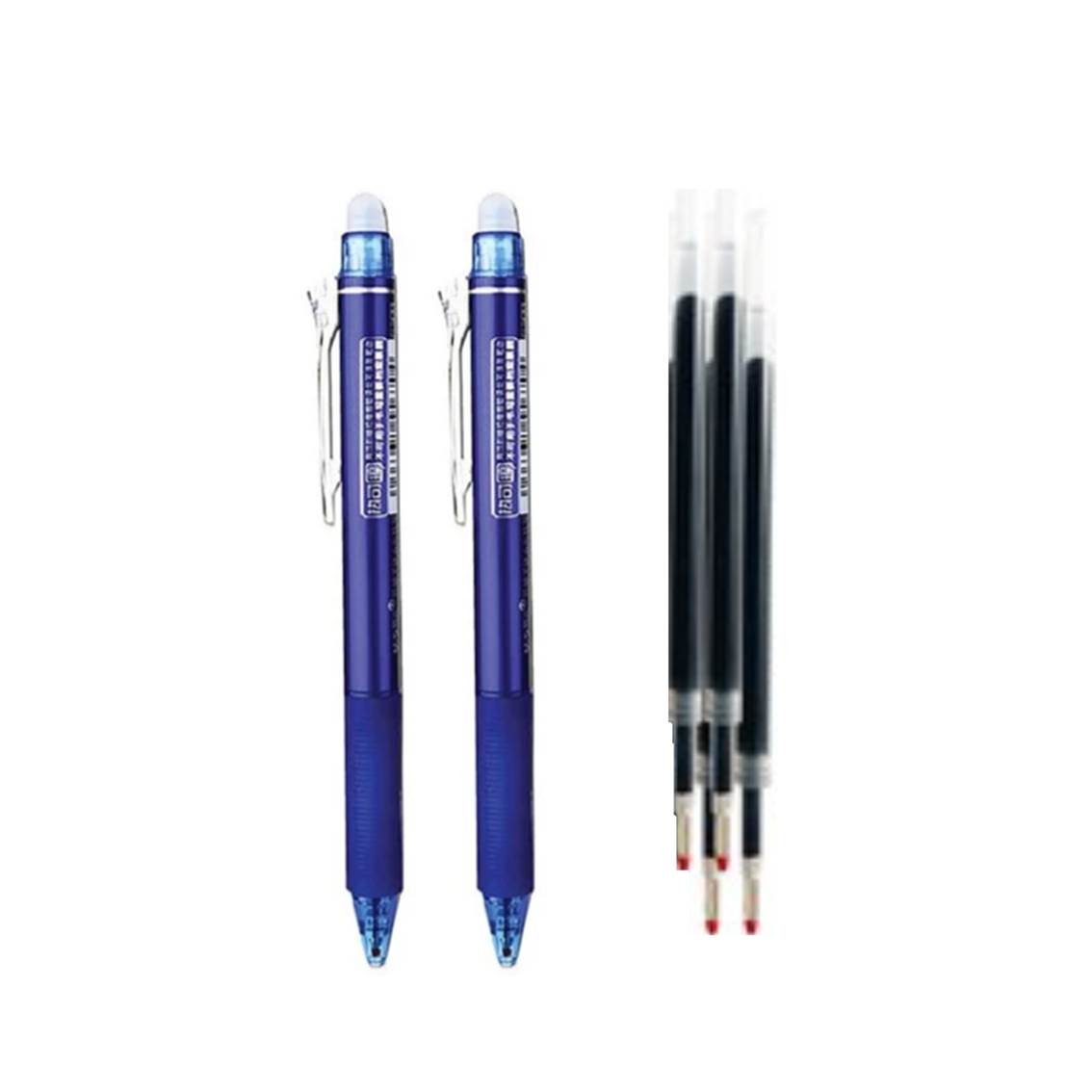 M&G 晨光筆套裝-藍(2筆+4芯)