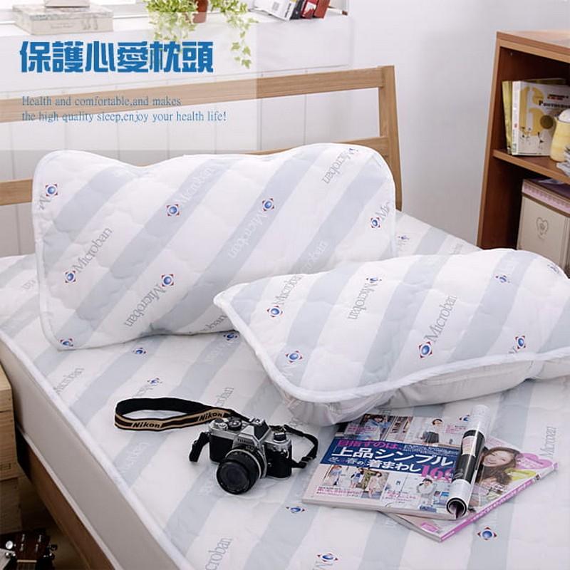 台灣製造抗菌枕頭台灣製造抗菌枕頭保潔墊-2個庄(不包括枕頭)