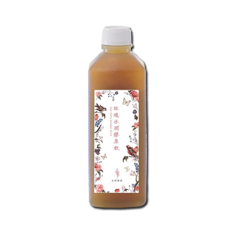 自然補給玫瑰水潤膠原飲