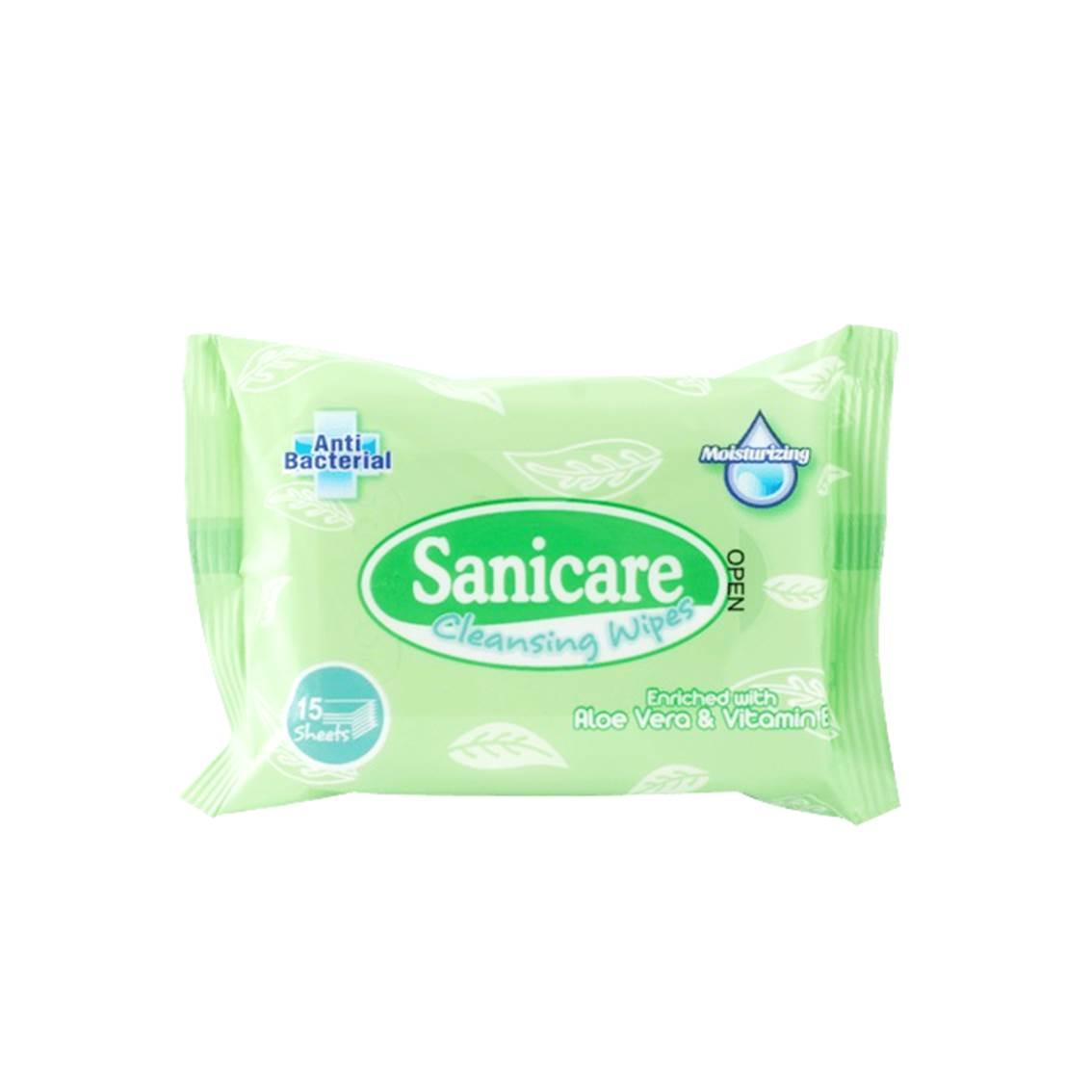 SANICARE蘆薈抗菌濕巾15片