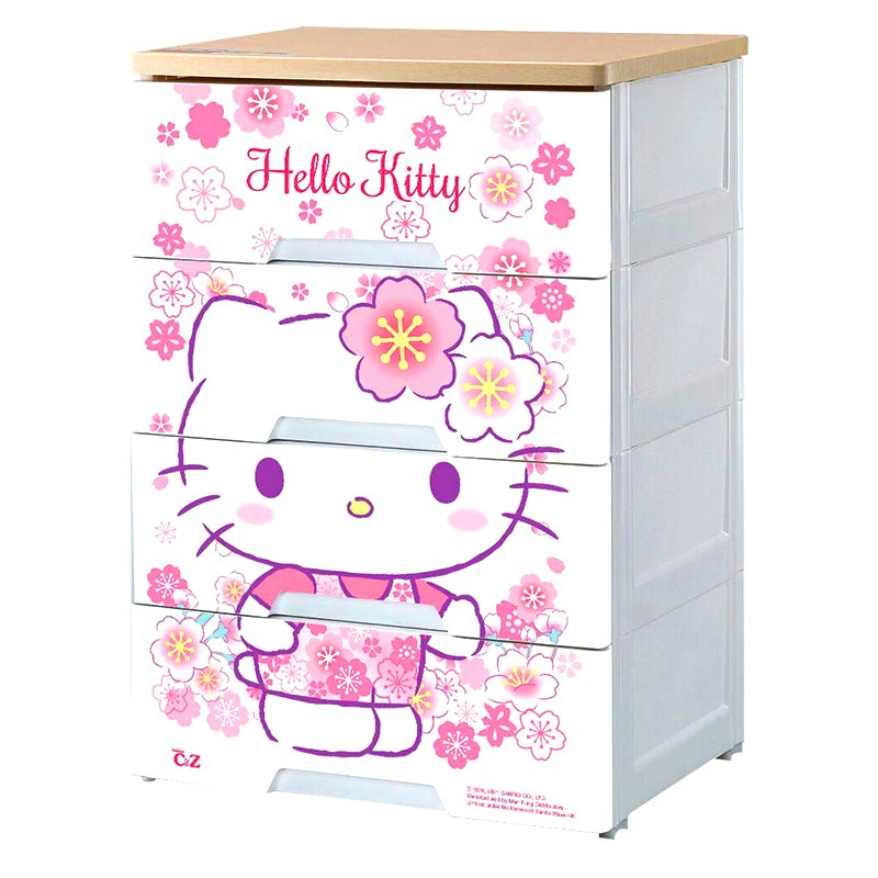 HELLO KITTYHELLO KITTY 木面四層柜
