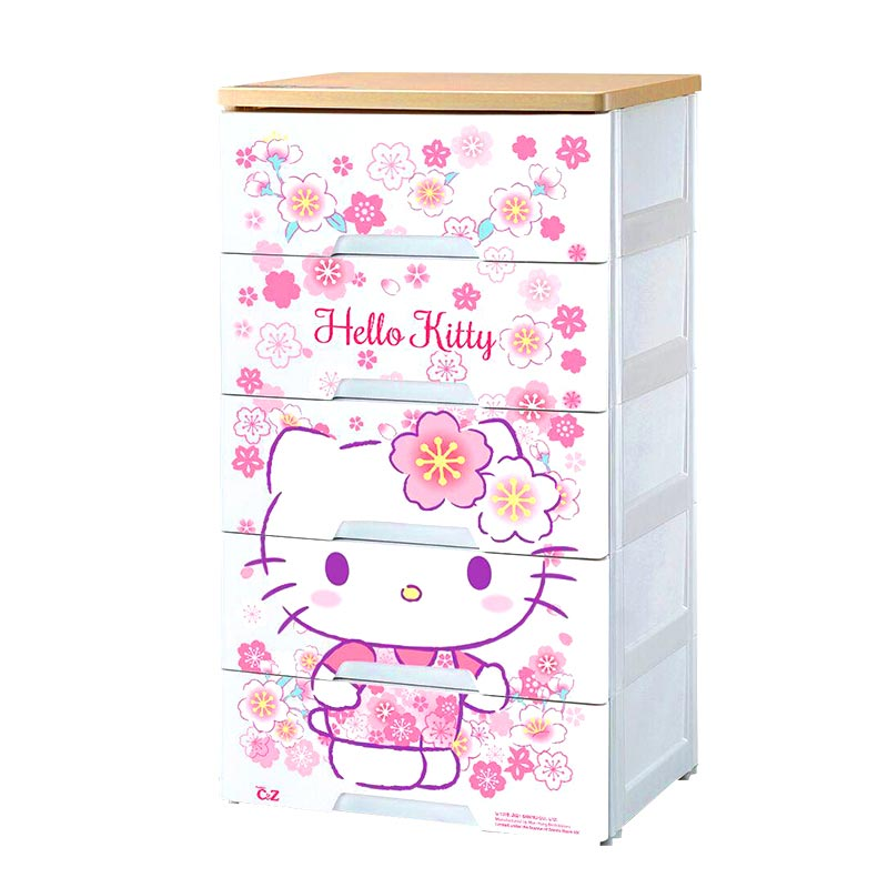 HELLO KITTYHELLO KITTY 木面五層柜