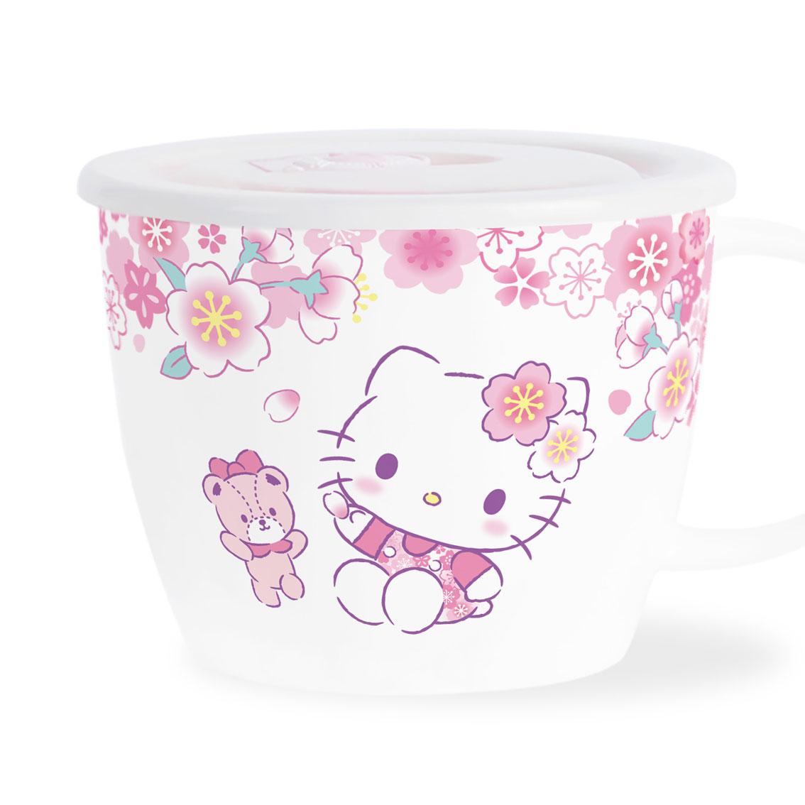 HELLO KITTY有蓋湯杯