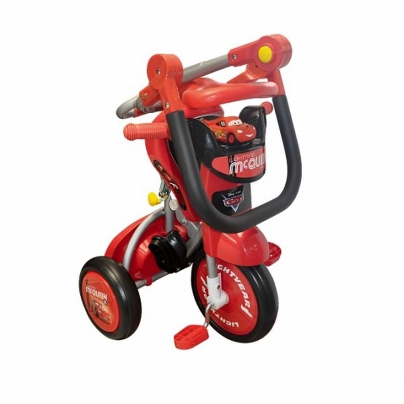 Baby Star迪士尼 Cars 推控前衛摺合三輪車