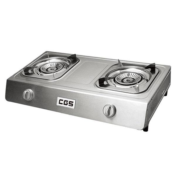 皇冠牌CK8268不銹鋼石油氣雙頭煮食爐(需另付安裝費)