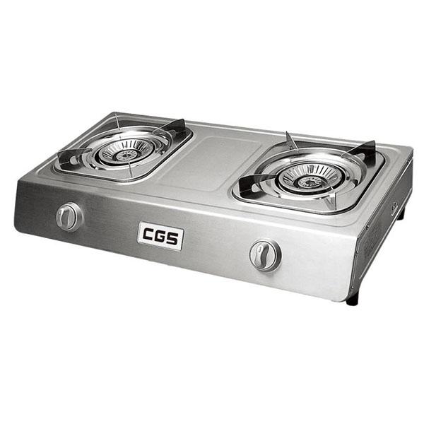 皇冠牌CK8268不銹鋼煤氣雙頭煮食爐(需另付安裝費)