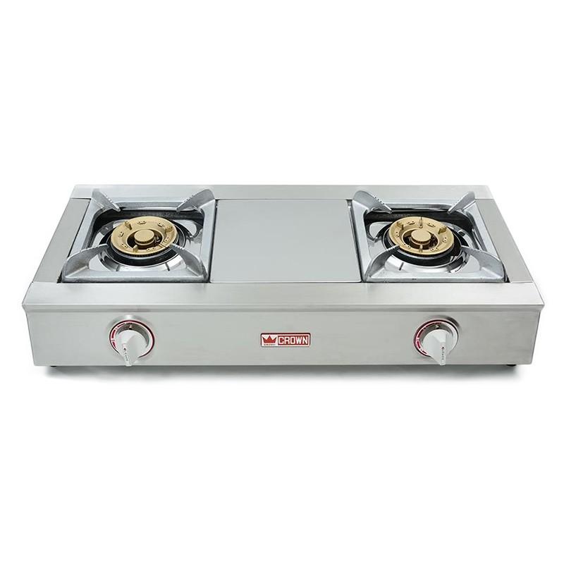 皇冠牌CR8838 不銹鋼石油氣雙頭煮食 (需另付安裝費)