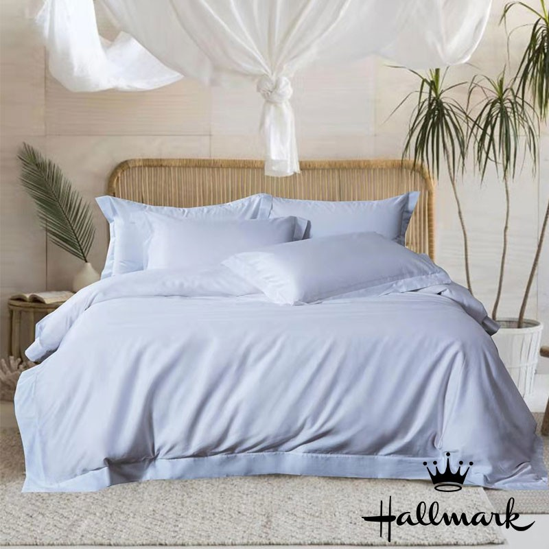 HALLMARK100%全棉雙人床笠連枕袋 - 白