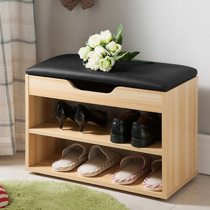 MR二層空格鞋櫃 (白柚木) 60x30x44.5 (cm)