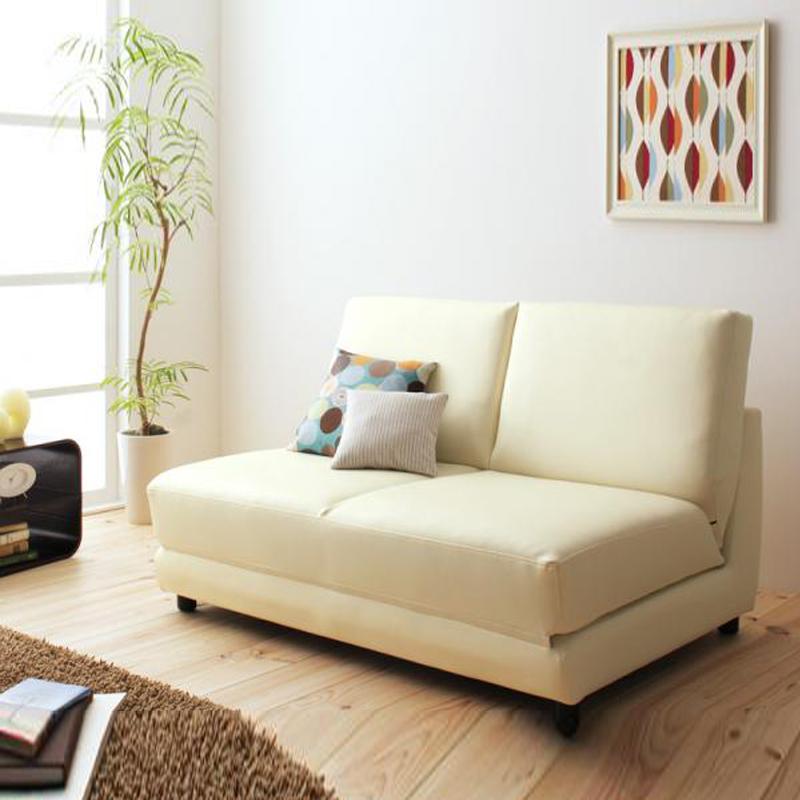 MR1.2m 雙人座位折疊梳化床米白色