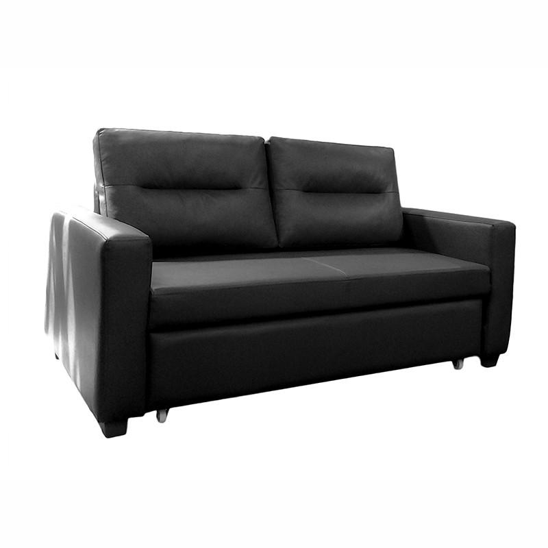 Gela兩座位真皮梳化床 SB6680 (黑色)