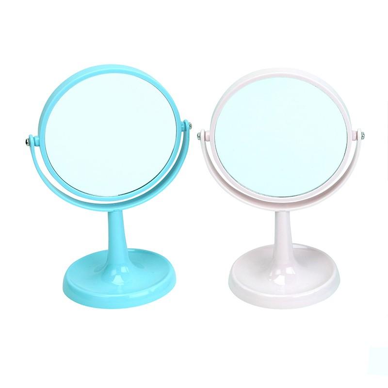 EZ HOME粉色圓型座檯鏡