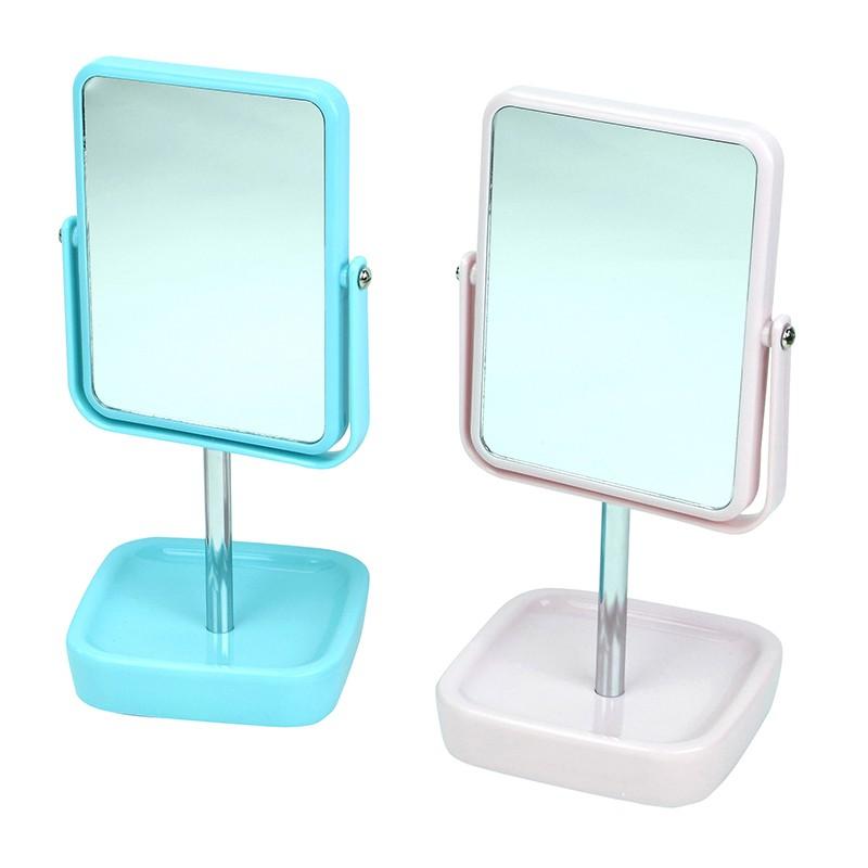 EZ HOME粉色長方型座檯鏡