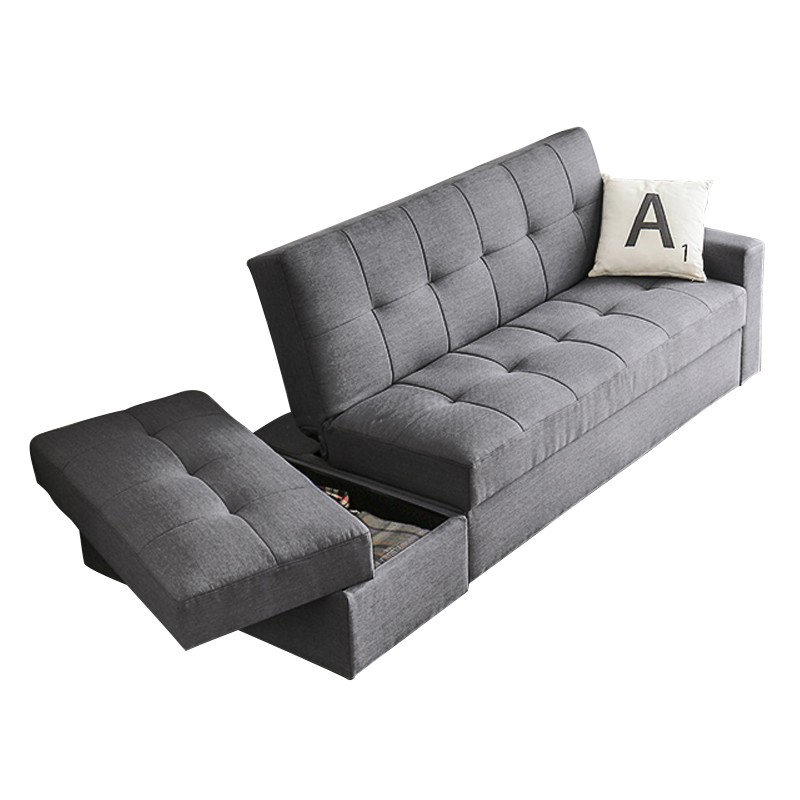 MR日式折疊收納梳化床及腳踏 116灰色