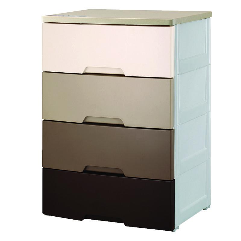 EZ KEEP4層木面漸變啡色膠柜