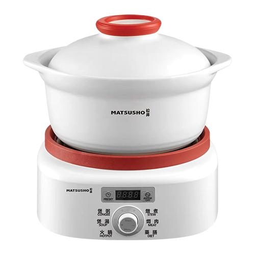 松井多用途電子鍋送陶瓷煲 3.0公升