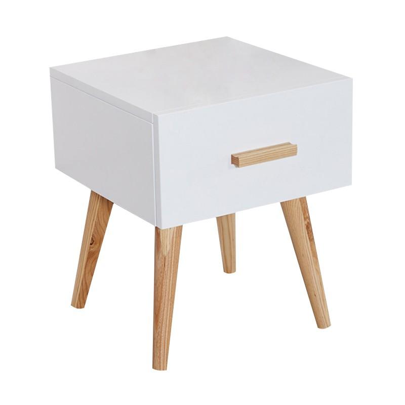 MR北歐簡約儲物床頭櫃MR-88043白色