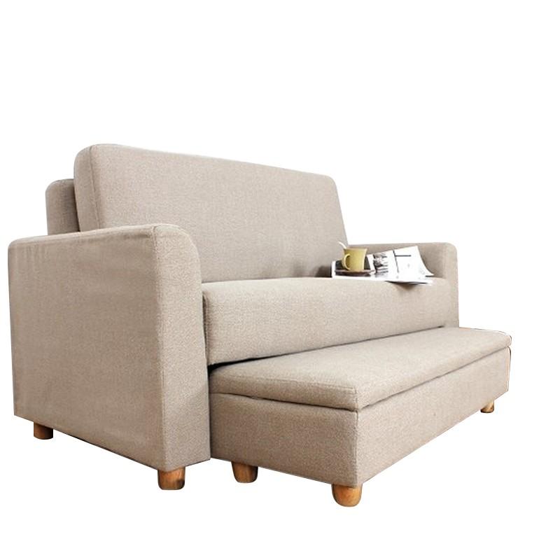 MR日式多功能雙人位布藝沙發套裝MR-2471米色