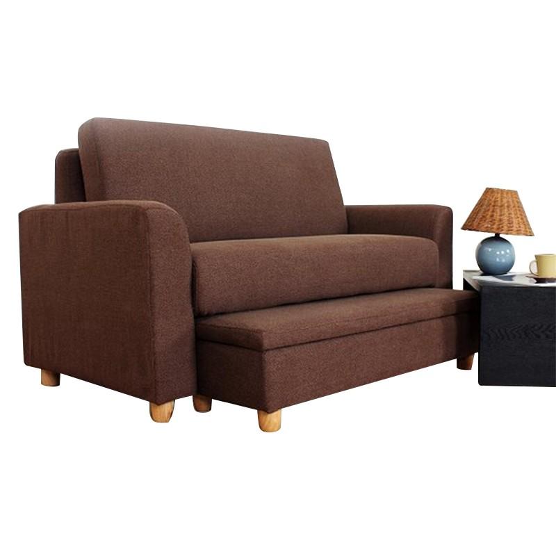 MR日式多功能雙人位布藝沙發套裝MR-2471啡色
