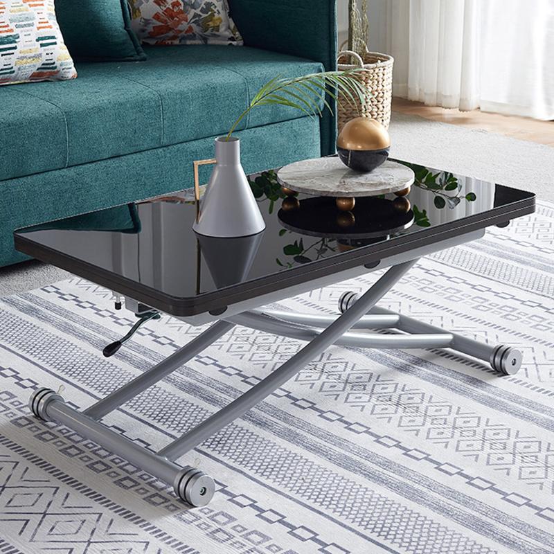 MR多功能升降茶機餐桌MR-N4 黑色鋼化玻璃