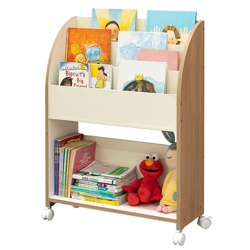 MR可移動兒童書架收納架WT037-5 白色
