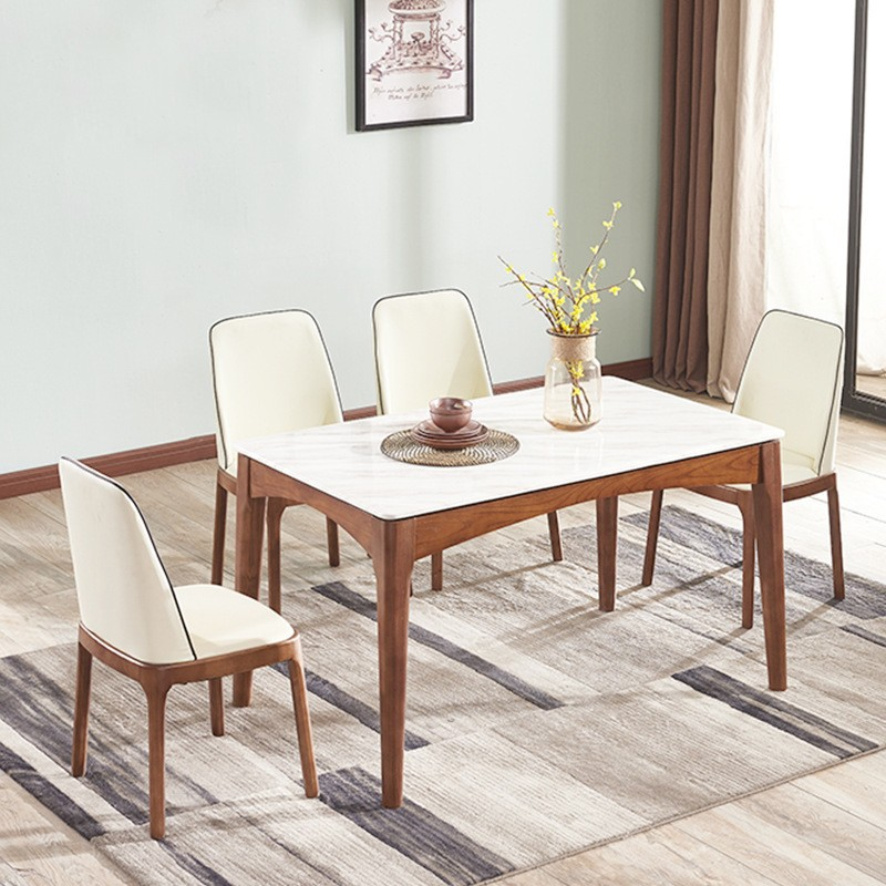 MR實木大理石餐桌130CM MR-A09白色(不包括餐椅)