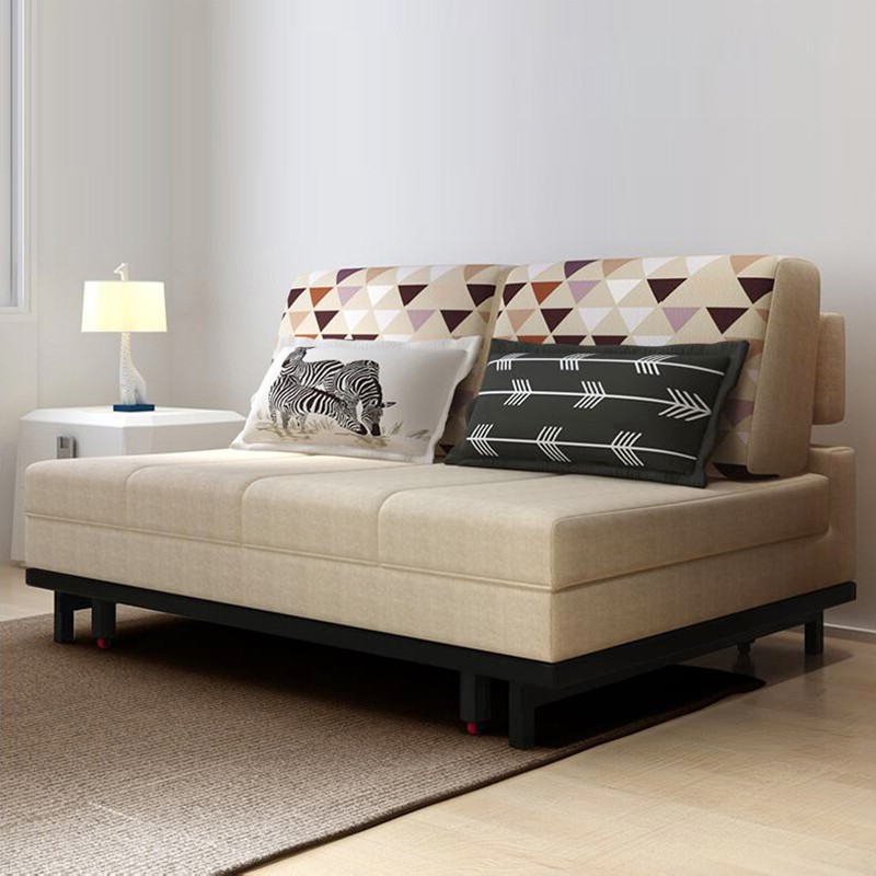 MR1.2米雙人位多功能折疊布藝沙發床MR-6010米色