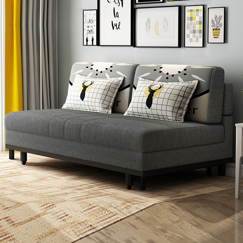 MR1.2米雙人位多功能折疊布藝沙發床MR-6010灰色