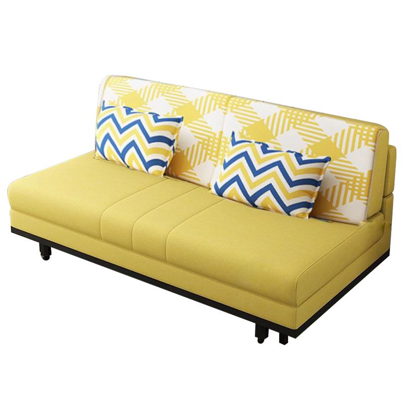 MR1.46米三人位多功能折疊布藝沙發床MR-6010黃色