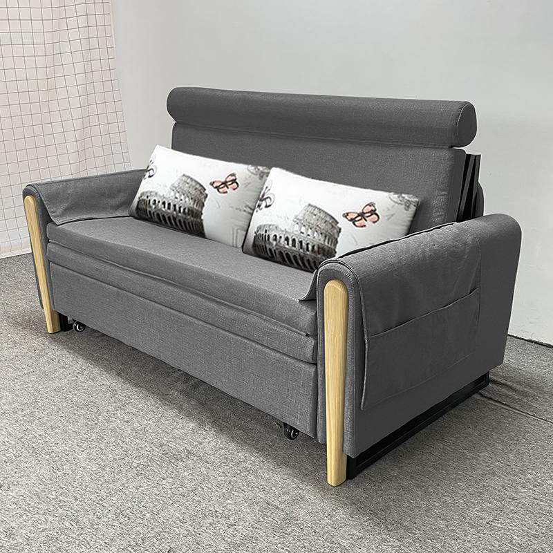 MR多功能可折疊儲物布藝沙發床150cm MR-801深灰色