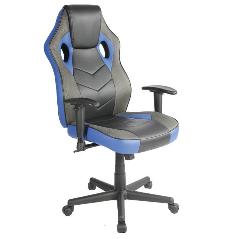 EZ HOME高背跑車型轉椅(藍)
