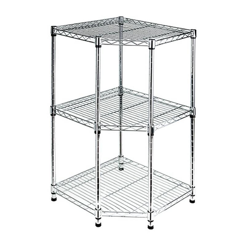 EZ HOME三層五角鍍鉻鐵架