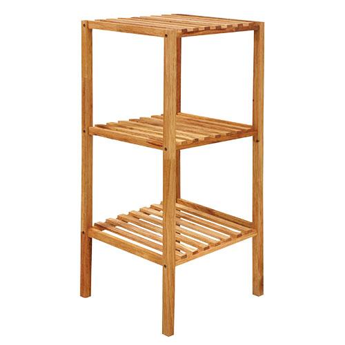 EZ HOME木製方形三層架