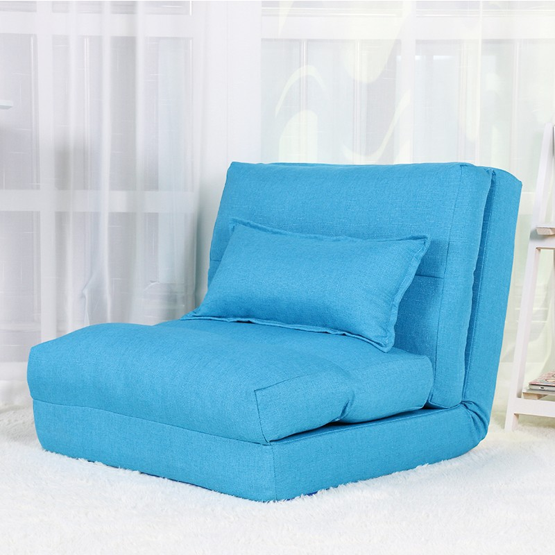 MRMR 多功能懶人榻榻米單人梳化 藍色